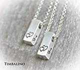 Partnerketten Silber 925 mit Wunschinitialen, personalisiert