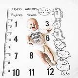 Foto-Decke monatlich, Zoylnk Decke Foto Prop Decke entworfen dekorativen Hintergrund für Baby-Fotografie