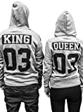 Comedy Shirts - Queen 03 - NEGATIV - Damen Hoodie - Weiss/Gold Gr. XL
