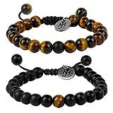 Partnerarmbänder Perlen mit Gravur von Marejolie - Das perfekte Geschenk für Paare