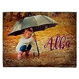 Lolapix Weiche Decke Personalisiert mit Ihrem Foto, Design Oder Text. Einzigartiges, Originelles und Exklusives Geschenk. Verschiedene Größen zur Auswahl. Größe 75x105cm