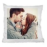 Personello Fotokissen (40x40) weiß, Kissen mit eigenem Foto bedrucken lassen, inklusive Füllung, Fotogeschenke