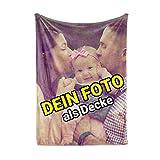 Carpezz Decke mit eigenem Foto | Decke selbst gestalten | Decke Bedrucken Lassen mit Wunsch-Motiv | 140x200 cm