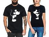 Kiss Partner Look Pärchen T-Shirt Set für Pärchen als Geschenk
