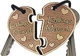 endlosschenken Schlüsselanhänger Lieblingsmensch Geschenk Gravur aus Holz