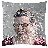 Shirt-Republic Premium Fotokissen/randlos 31x31cm/personalisiertes Kissen mit Ihrem Foto