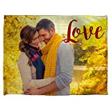 Lolapix Warme Decke personalisiert mit Ihrem Foto, Design oder Text. Einzigartiges, originelles Verschiedene Größen zur Auswahl. Größe 100x130cm