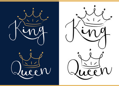 partner-t-shirt-king-queen-motive